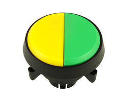 Dual button - yellow green 29 mm screw