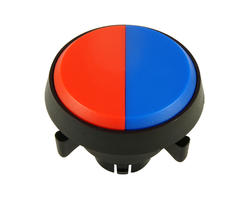Dual button - red blue 29 mm screw