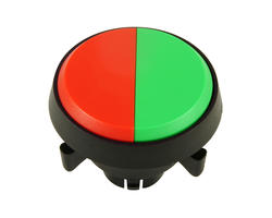 Dual button - red green 29 mm screw